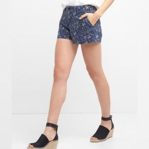 GAP Blue Floral Print Summer Shorts Women's Size 8